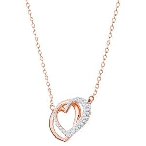 Swarovski Rose Gold Heart Necklace